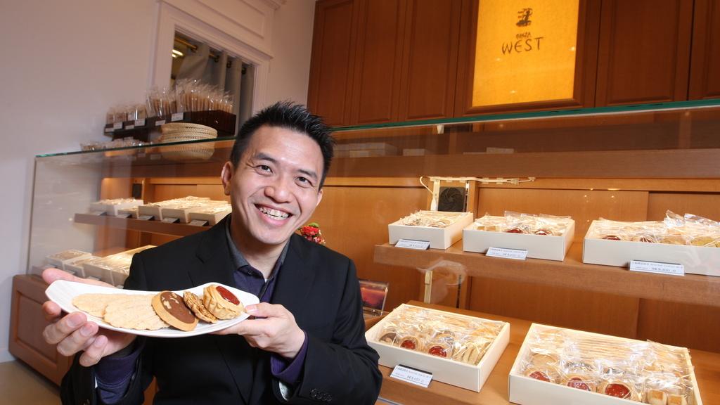 港大教授張天秀連環創業22年,仍說進軍零售界學習良多。投資日式高檔餅店前,很多人跟他說:「好東西不怕多花錢,吃少兩塊,也值得。」(黃建輝攝)