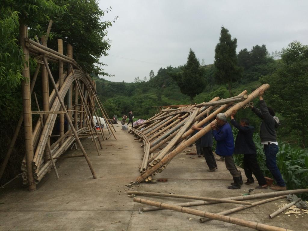 竹桥使用拼装式结构亦可缩减施工时间