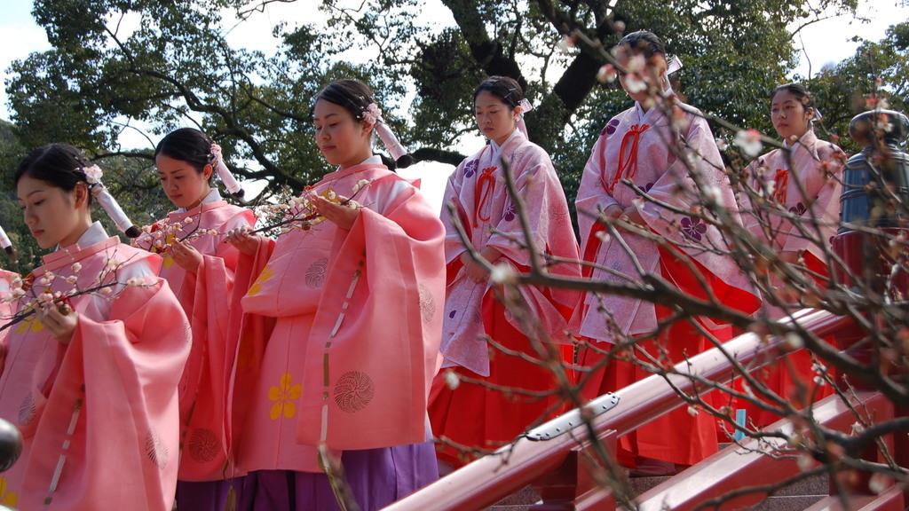 各地天滿宮的 2 月 25 日皆為梅花祭。(九州觀光圖片)