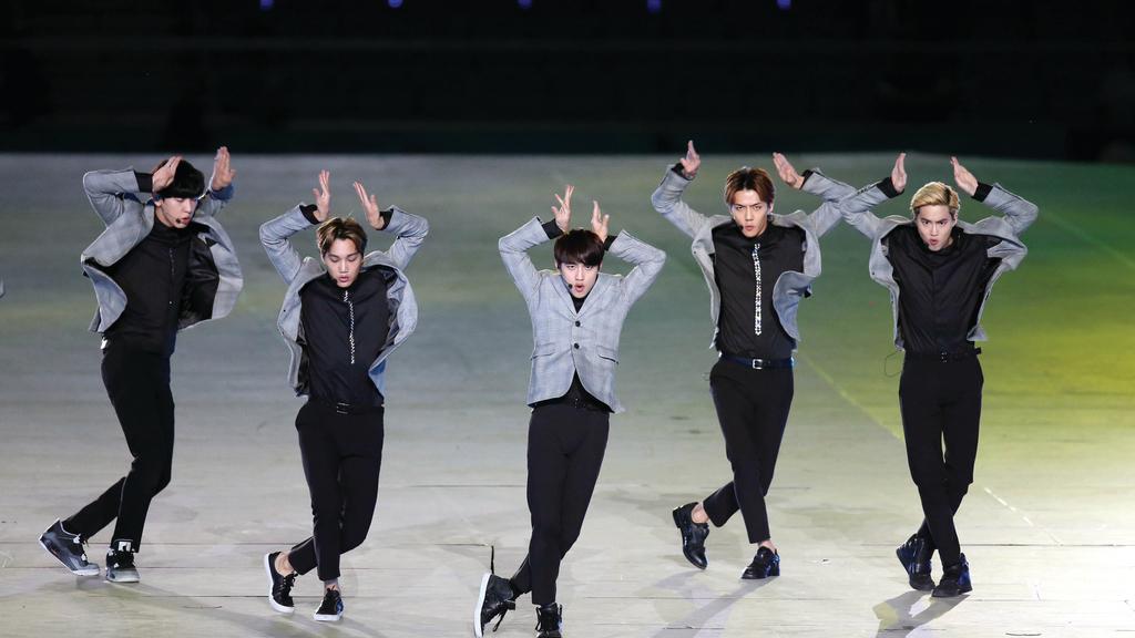 韓國人氣組合EXO將會出席SMTOWN Special Stage in Hong Kong 演唱會。(新華社資料圖片)