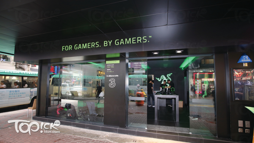 剛開業的銅鑼灣RazerStore。(曾有為攝)