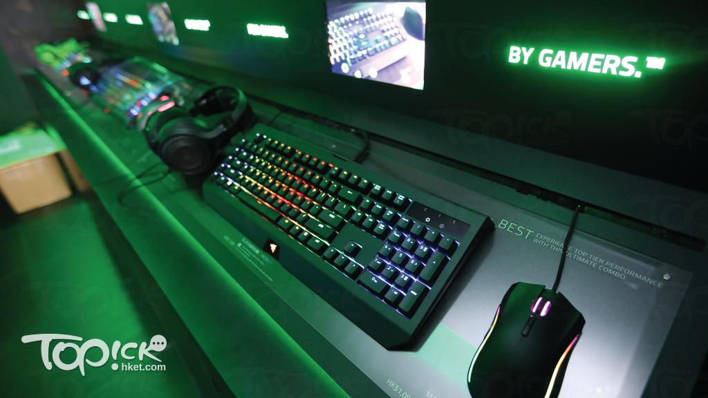 Razer主力推出各種打機裝備。(曾有為攝)