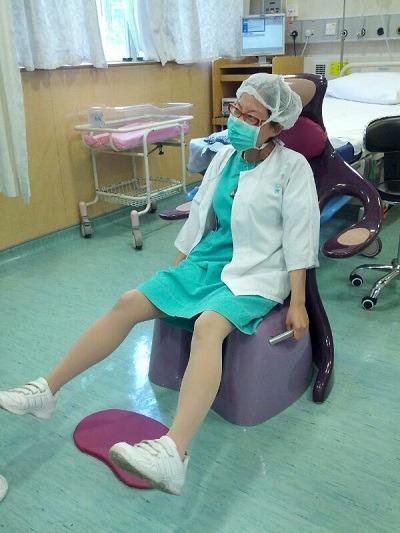 Cosy在醫院工作的情況。(受訪者提供)