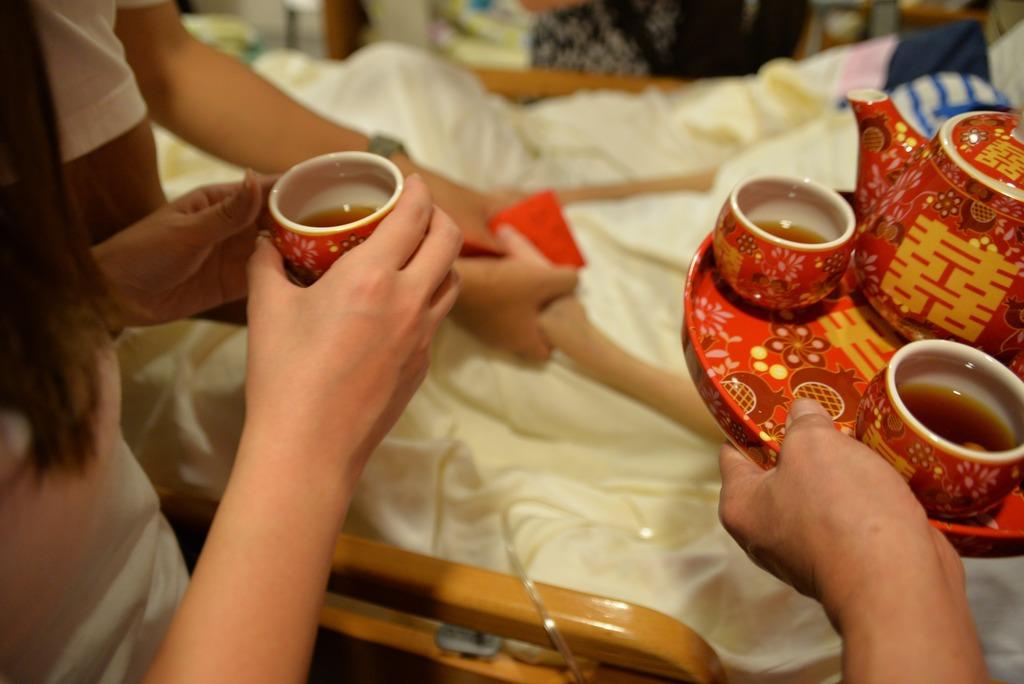 有末期患者最後心願是喝兒子和媳婦的「媳婦茶」。(防癌會提供)