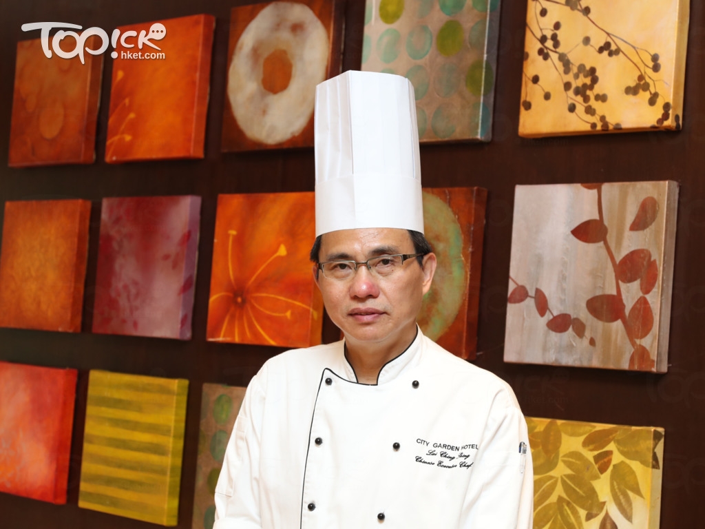 香港城市花園酒店中菜部行政總廚賴正成師傅。(黃建輝攝)