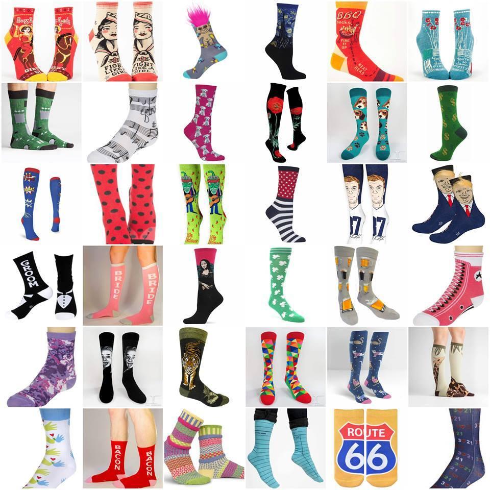 John's Crazy Socks售賣的襪款式百變,難怪吸引到有「彩襪元首」之稱的加拿大總理杜魯多光顧。(相片來源:John's Crazy Socks fb專頁)