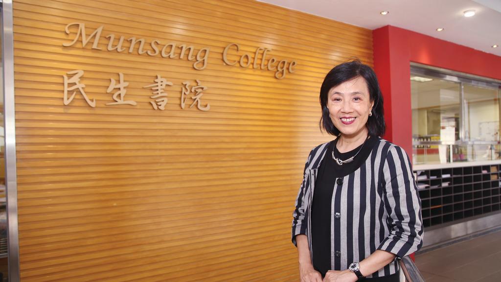 陈嫣虹校长表示,校方致力培养领袖人才。 (曾有为摄)