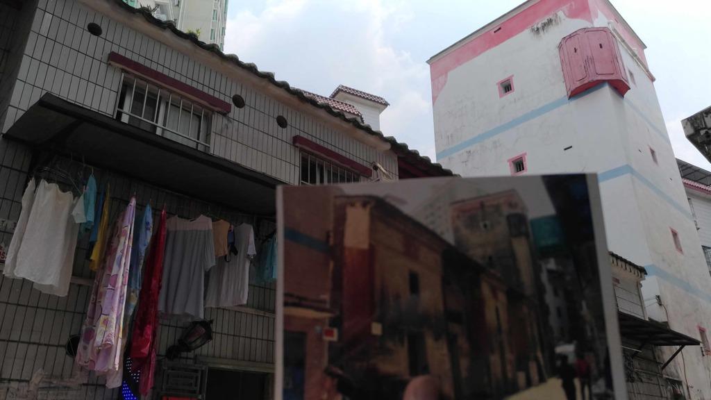 新界邊境解禁後,近年已有不少客家屋、私塾被拆掉,香園圍及蓮塘的同款粉紅色碉堡前景亦備受關注。(受訪者提供圖片)