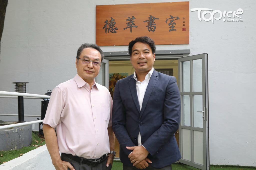 徐飛及曹啟樂(左)指大光德萃書院設有獎學金計劃,鼓勵有才華的學生入讀。(曾有為攝)