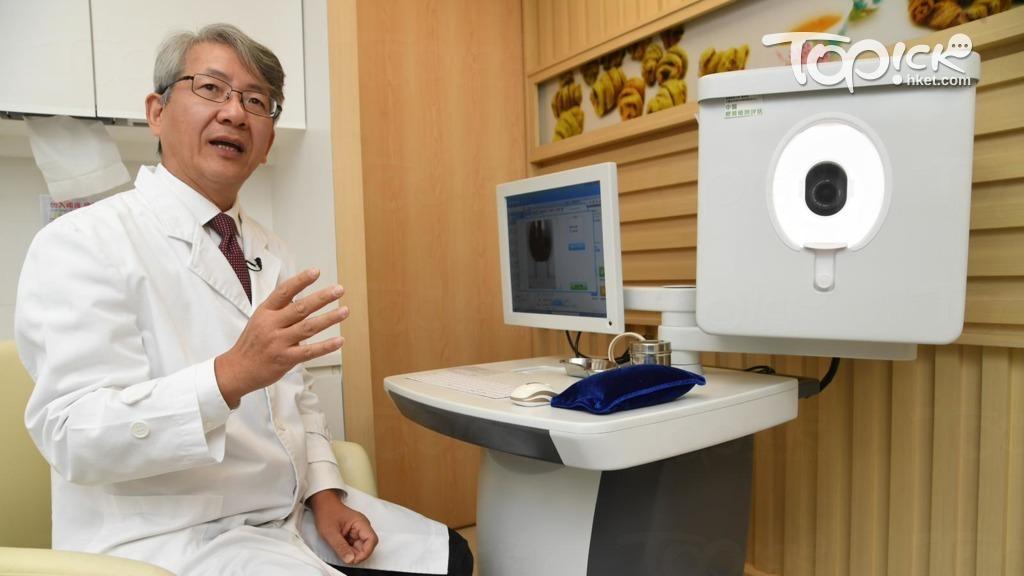 浸大中醫藥學院透過「中醫四診儀」分析人體體質。(程志遠攝)