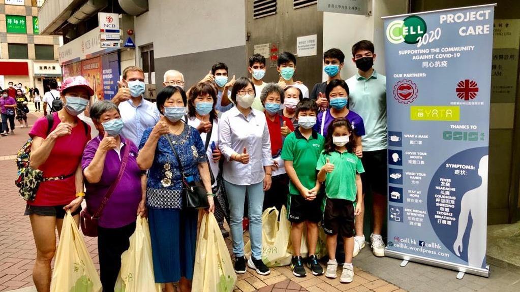 德瑞國際學校(德瑞)的學生上周六(23日)發起名為「Project Care」的慈善活動,向有需要的長者派發抗疫包。