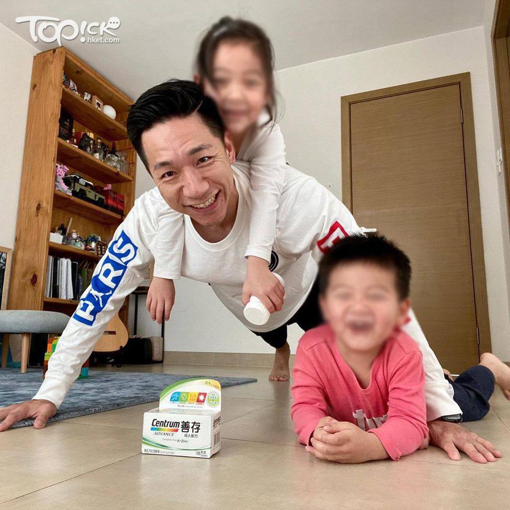 柳俊江與子女感情不錯。(取自IG)