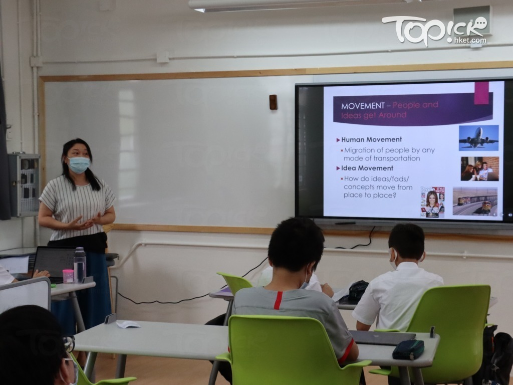 7至8年級(中一至中二)的校本課程按IGCSE課程設計。(相片由受訪者提供)