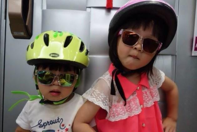 Marco已為歲半的兒子購買好裝備,準備明年5月的父子之旅。(相片來源:黃鎮昌提供)