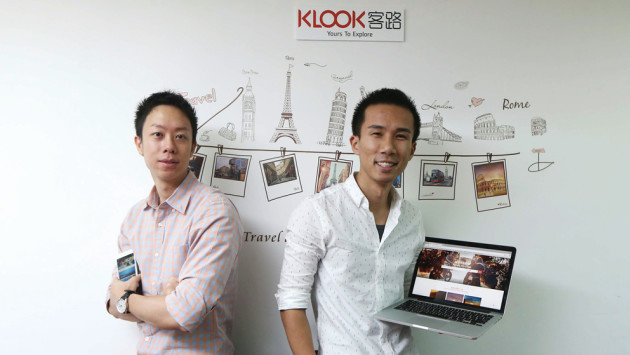 兩名「80後」王志豪(左)與林照圍(右)瞄準旅遊活動預訂市場,遂辭去投行工作,創立客路旅行。(潘政祁攝)